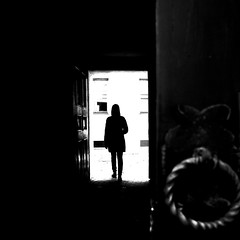 When you open the door (Edgaras Vaicikevicius) Tags: streetphotography street streetlife blackandwhite blackandwhitephotography monochrom edgarasvaicikevicius