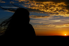 Watching The Sun Go Down (Sean Sweeney, UK) Tags: brighton sunset sky sun landscape southdowns south downs nikon d60 dslr silhouette silhouettes