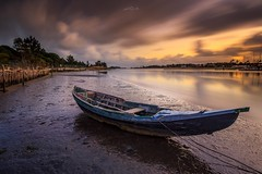 Low tide, Ria de Aveiro (paulosilva3) Tags: low tide lake water ~travel nature sunset sunrise blue clouds sky long expos lee filters canon eos 6d manfrotto ria de aveiro portugal