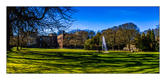 Towneley Hall (Kev Walker ¦ 9 Million Views..Thank You) Tags: 13thcentury architecture britishculture building burnley canon1855mm countryhouse england gardens gradeilistedbuilding hdr historichouse historical lancashire mirrorimage northwest outdoor panorama panoramic photoborder postprocessing residential streetlights towneleyhall trees waterfountain