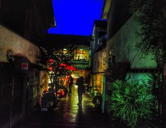 Blue Hour - Kyoto (-Faisal Aljunied- Ending Soon !! Thanks for all th) Tags: ricohgr streetphotography nightphotography japan bluehour kyoto faisalaljunied shadows silhouettes alley