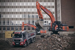 All Saint Green Groundworks [70/365 2017] (steven.kemp) Tags: norwich construction mecca bingo site student residential accomodation truck digger rubble mph office all saints green westlegate john lewis lorry hickey tipper