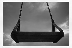 Swing (TMarkou) Tags: wood old metal rusty swing chain greece