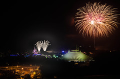 Wishes Top of the World (Colin Carroll (Sonny Eclipse)) Tags: fireworks disneyworld wishes waltdisneyworld magickingdom baylaketower topoftheworldlounge