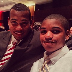 Darius with his nephew, JaRren at an API event hosting Ben Carson.