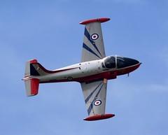 Hunting Percival Jet Provost (MJ_100) Tags: show plane airplane aircraft aviation hunting jet aeroplane airshow trainer raf percival bac throckmorton royalairforce jetprovost