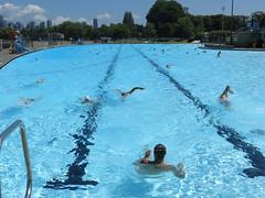 Midday swim (misiekmintus) Tags: summer canada water vancouver america swimming swim bc swimmingpool kits kitsilano pacificnorthwest swimmers kitspool seeninvancouver insidevancouver