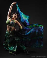 Arielle Studio Shoot - Part 2 - Green and Blue/Shadow and Wind (Drumdude Bill) Tags: portrait beautiful model bellydance arielle madisonwisconsin nikond700 nikkor2470mmf28ged doumtekphotography