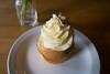 lilikoi cupcake (AS500) Tags: food dessert hawaii cafe sparkle cupcake kauai icing kapaa lilikoi