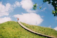 (Joe Pepper) Tags: travel boy green film nature analog 35mm canon landscape kodak hill explore 18 lithuania ftb fd kernave canonftb