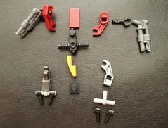 Part breakdown no.1 for an Ace Mini Mobile Frame named WLKR-TR for the Lego tabletop strategy game MFZ: IO. (Ronsem) Tags: miniature lego micro mech mfz mf0 mobileframezero alphabandit interceptorbit