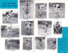 The Stars of the R.T.T.C. for 1957. (Paris-Roubaix) Tags: road club bill concert all time suburban leicestershire glasgow ken competition best cc v ev bradley 1957 billy british owen mitchell hull ernie thursday holmes rc trials southport champions association subs bbar blower laidlaw rounder rttc allrounder