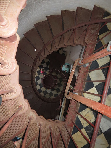 Descending Spiral Staircase, Cape Hatteras Light Station (Lighthouse), Cape Hatteras National Seashore, Buxton, North Carolina