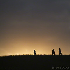joggers in the park (Jon Downs) Tags: red sky orange cloud sun 3 color colour art colors silhouette clouds canon downs photography eos grey three photo jon artist colours photographer image silhouettes photograph 7d joggers jogger jondowns
