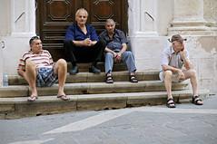Men in front of a door - Valletta - Malta (PascalBo) Tags: street door people man outdoors nikon europe capital malta unesco porte capitale rue homme worldheritage malte valletta d300 lavalette patrimoinemondial pascalboegli