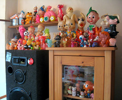 PUT TOYS ON IT   (^▽^) (The Moog Image Dump) Tags: kitchen vintage toy toys it collection portlandia put on