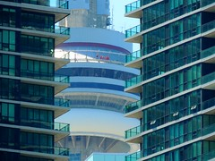 """EdgeWalk"" At CN Tower .... Toronto, Ontario, Canada (Greg's Southern Ontario (catching Up Slowly)) Tags: people tower nikon cntower persons observationtower torontoist thrillseekers edgewalk mainpod"
