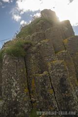 Isle of Staffa (omairkha) Tags: ocean uk sea grass clouds island scotland columns isle basalt hebrides staffa