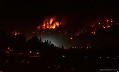 British Columbia Wildfire (Photography Through Tania's Eyes) Tags: wildfire fire evening bc britishcolumbia canada taniasimpson photographer photography photograph photo image copyrightimage nikon nikond7100 peachland okanagan okanaganvalley hwy97c coquihallaconnector