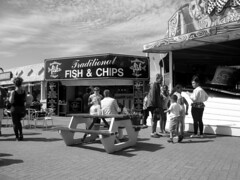 09/08/14   SOUTHPORT.  The Funfair. Traditional Fish & Chips. (Lachlan Main) Tags: lancashire southport fishchips southportfunfair