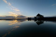 Sun burst (ajecaldwell11) Tags: light sea newzealand sky water clouds sunrise dawn hawkesbay