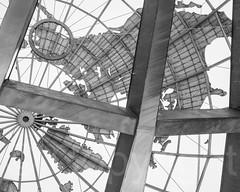 Inside the Unisphere Globe, Flushing Meadows Corona Park, Queens, New York City (jag9889) Tags: world park nyc newyorkcity sculpture usa ny newyork fountain globe unitedstates symbol earth unitedstatesofamerica queens corona sculptor worldsfair unisphere 2014 nycparks flushingmeadowpark flushingmeadowscoronapark publicpark peacethroughunderstanding jag9889 20140810
