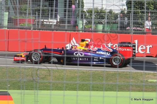 Sebastian Vettel in qualifying for the 2014 German Grand Prix