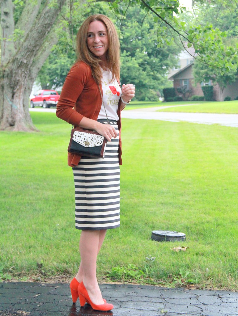 5835b4808d how to wear a midi pencil skirt via Kristina J blog (KristinaJ.) Tags. modest  summer outfit (KristinaJ.