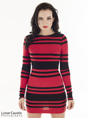 Faye Taylor - 4-01 (Lunar Caustic Photography) Tags: red black model dress taylor brunette faye 2014