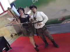 Expomanga Madrid 2014 Steampunk (4) (Taller de Nithael) Tags: wings alas weapons raygun steampunk expomanga dieselpunk