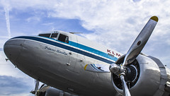"DC-3 by KLM at EHRD • <a style=""font-size:0.8em;"" href=""http://www.flickr.com/photos/125767964@N08/14777496225/"" target=""_blank"">View on Flickr</a>"