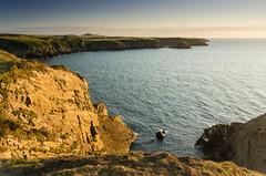 Trefin (MarkE_T) Tags: sunset sea wales coast cliffs pembrokshire trevin smcpentaxda1645mmf4edal pentaxk5 pwpartlycloudy