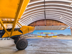 Yellow Planes (jerryfergusonphotography) Tags: arizona yellow angle airplanes hangar wide hdr