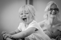 Happy Girls (PaulGibsonPhoto) Tags: wedding people bw girl smile happy mono nikon child candid laugh tamron banbury d7000