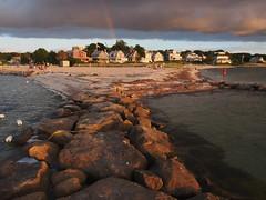 Megansett (Steve Bosselman) Tags: beach rainbow capecod jetty breakwater