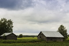 The Barns, the barns (k009034) Tags: blue summer sky cloud house building tree green barn rural finland landscape countryside scenery fields barnhouse 500px matkaniva