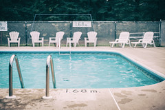 Empty Pool (Patrick Chondon) Tags: camping water pool fence chairs empty happyland