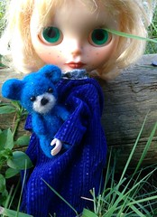Singrid with her needle felted teddy