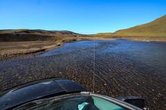 La Pista del Fjallabak (Roveclimb) Tags: road travel ford water river iceland stream strada track crossing offroad fiume journey acqua guado pista viaggio vacanza islanda torrente fuoristrada fjallabak