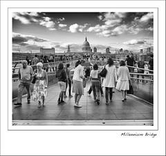 Millennium Bridge (Mike Parr) Tags: bridge london mono blackwhite stpauls millenniumbridge southbank riverthames mikeparr mikeparrphotography fujixpro1