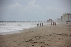 (Lady.in.Black) Tags: mist beach sand waves cloudy northcarolina outerbanks obx rodanthe roughwaves