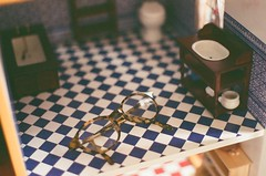 through the looking glass (Cnr Doll) Tags: 35mm miniature alicesadventuresinwonderland dollhouse aliceinwonderland throughthelookingglass pentaxasahi dollparts