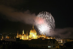 Fireworks Show in Budapest on St. Stephen's Day 2014 August 20. - 19 (Romeodesign) Tags: longexposure night hungary fireworks budapest explosion ceremony parliament illuminated national ststephen 550d