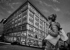 Second Life (Giovanni Savino Photography) Tags: street newyorkcity newyork realestate manhattan streetphotography billboard secondlife virtual virtualreality realestatedevelopment virtuallandscapes unrealestate magneticart giovannisavino womancarryngbags
