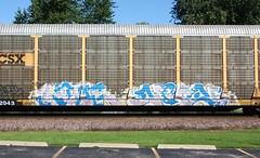 Large/Enron (quiet-silence) Tags: railroad art train graffiti large railcar graff freight csx enron autorack fr8 vts
