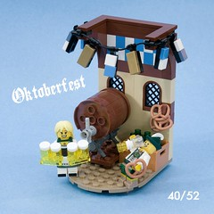 Oktoberfest (ted @ndes) Tags: house beer garden lego haus oktoberfest bier minifig vignette biergarten 8x8 8x8x52