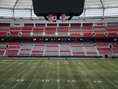 centre field (Shannon Leigh Photography) Tags: sports field football bc stadium centre arena 50 bcplace 50yardline shannonleighphotography
