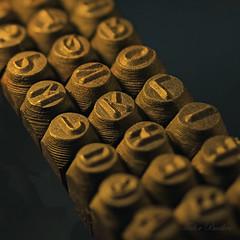 Letter Punches (tudedude) Tags: macro metal bench model mechanical machine engineering workshop dorset chuck precision engineer tool stacked handcraft metalworking lathe gbr homeworkshop stackedimage imagestacking modelengineer tudedude workingwithmetal
