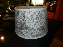 Mehndi Lamp Shade