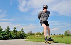 Inline Skate Selfie (fotofrysk) Tags: ontario canada track remote skater selfie thornhill inlineskater speedskater nikond7100 gigatproii slowspeedexercise